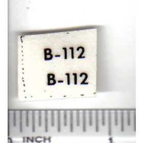 Decal 1/16 Allis Chalmers B-112 model numbers
