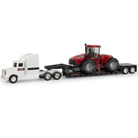 1/64 Case IH Stieger 500 4WD tractor with lowboy semi