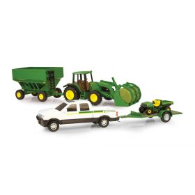 8 inch John Deere Pickup with Gator, Trailer, JD tractor & wagon