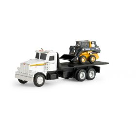 1/64 Peterbilt 367 Straight truck with JD 320E Skid Steer Loader