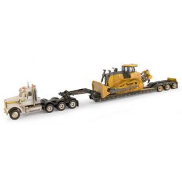 1/50 Freightliner with John Deere 1050K Crawler & lowboy trailer