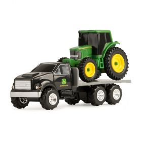 1/64 John Deere Truck with John Deere MFD tractor