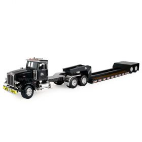 1/16 Big Farm Peterbilt 367 semi with Lowboy Trailer with wide load sign