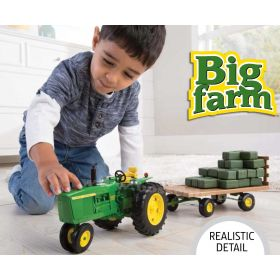 1/16 Big Farm John Deere 4020 WF with hay wagon
