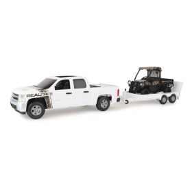 1/16 Big Farm Chevy Pickup withFlatbed trailer & JD Gator