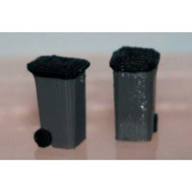 1/64 Garbage Cans Wheeled Square Set of 2