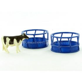 1/64 Bale Feeder Round  Set of 2