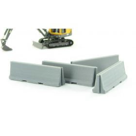 1/64 Concrete Traffic Barriers Set of 4