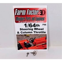 1/64 Steering Wheel & Throttle Lever 3D printed
