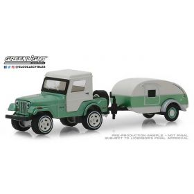 1/64 Jeep CJ-5 Half-Cab w/Travel Trailer