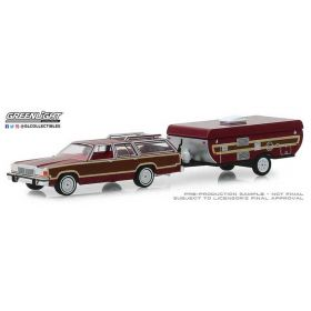 1/64 Ford Country Squire with Pop-Up Trailer