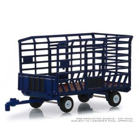 1/64 Wagon Bale Throw blue Series 2