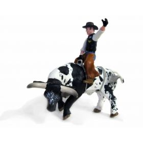 1/16 Cow Bucking Bull with Cowboy
