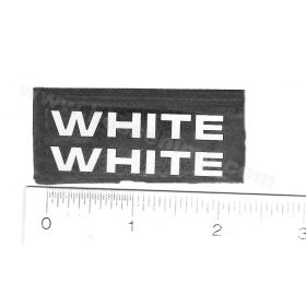 Decal White Logo 1/4 inch x 1 1/2 inches white