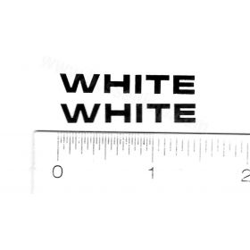 Decal White Logo 1/1/4 inch tall black