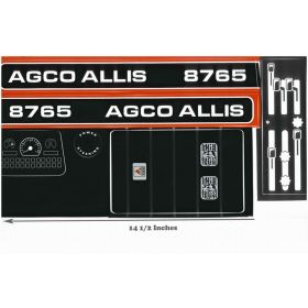 Decal AGCO-Allis 8765 Pedal Tractor