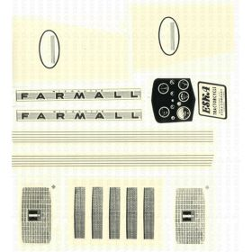 Decal Farmall 460 Pedal Tractor Decal set Water Transfer