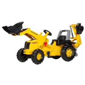 New Holland B110C Plastic Pedal Tractor w/ Front Loader & Backhoe
